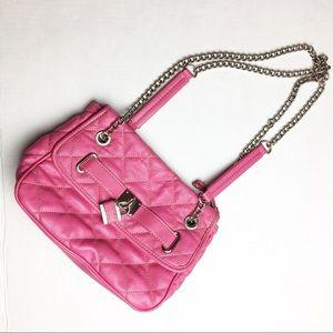 Pink Nine West Adjustable Shoulder Crossbody
